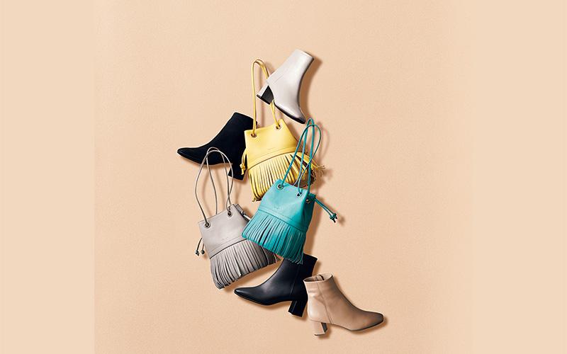 銀座かねまつのブーツ&バッグ