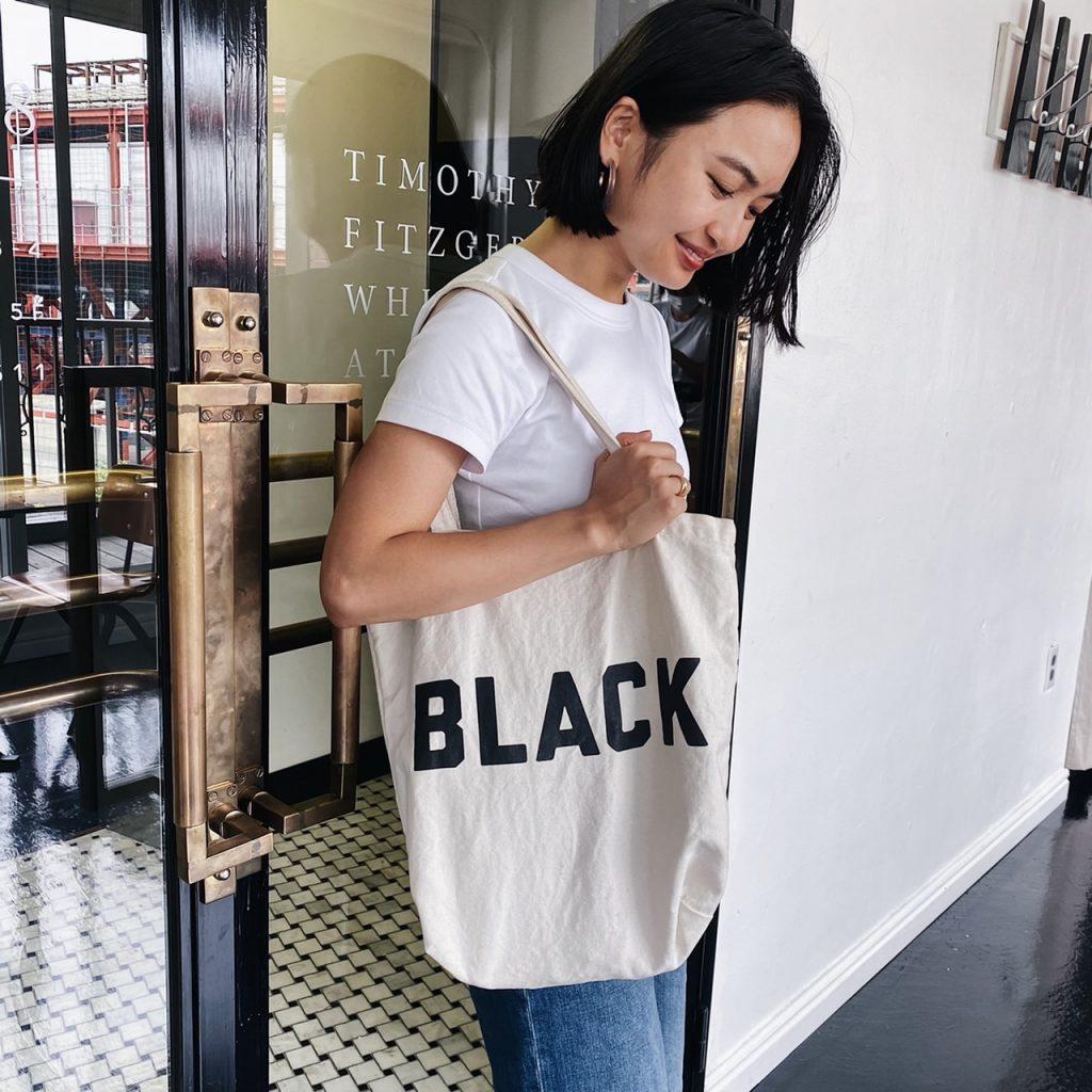 BLACKのロゴが可愛くてお気