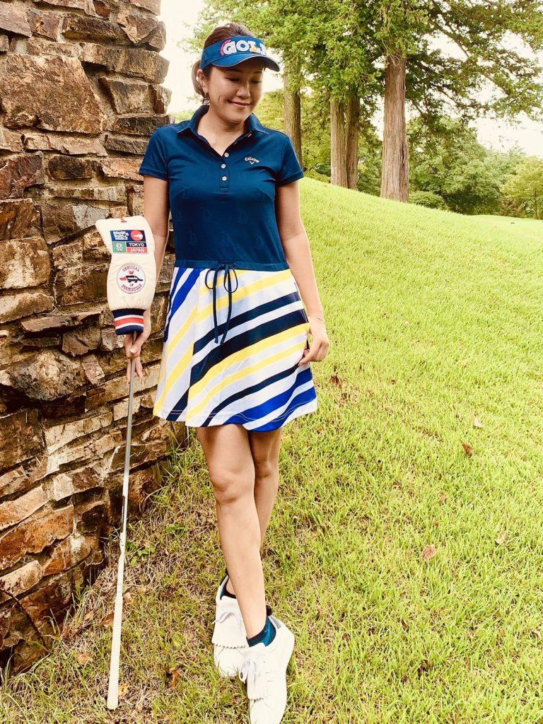 美女ゴルファーおすすめ!可愛くて映えるゴルフウェア【⑤濱口眞夕子さん】