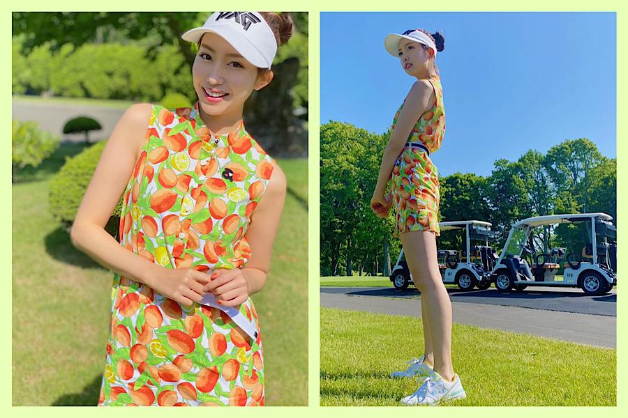 美女ゴルファーおすすめ!可愛くて映えるゴルフウェア【④中島亜莉沙さん】