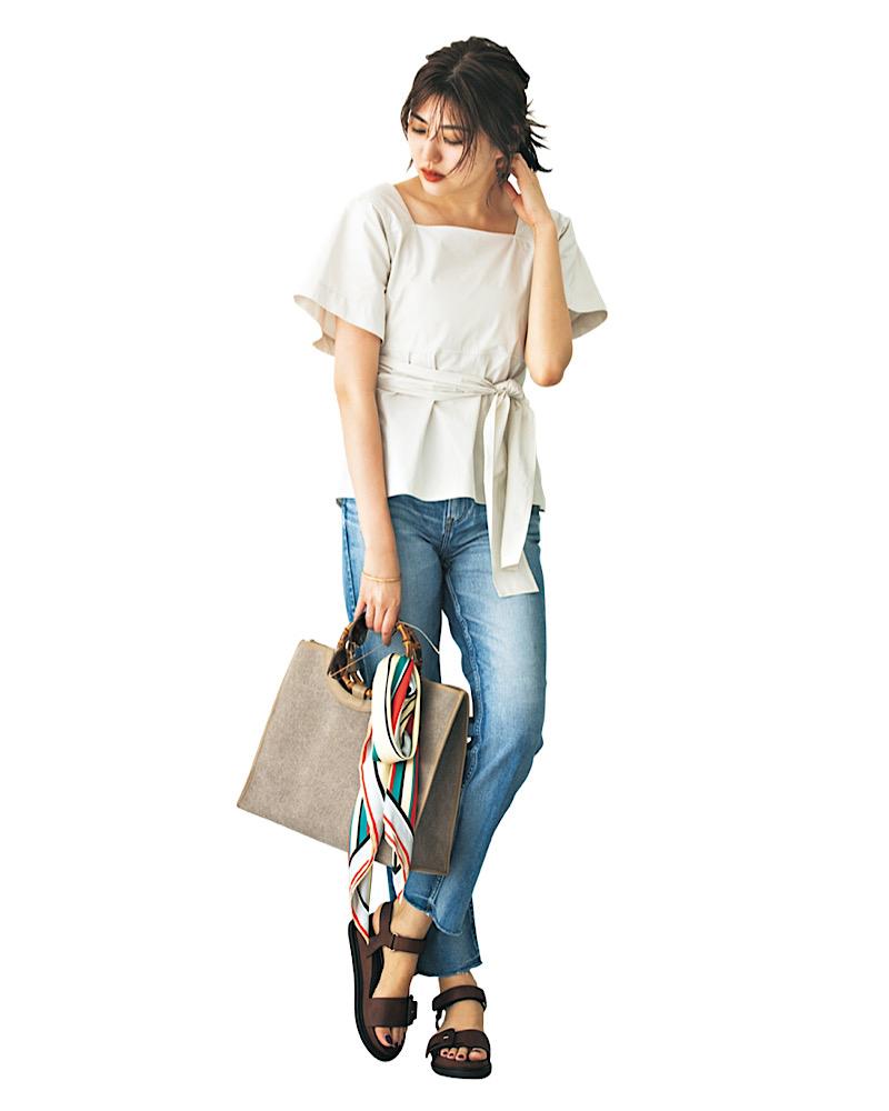 【今日の服装】女っぽいけどカジュアルな「デニムコーデ」って?【アラサー女子】