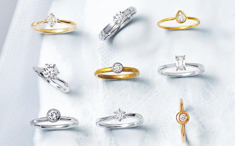 アラサー女子におすすめの結婚指輪36選【❶ソリテール編】