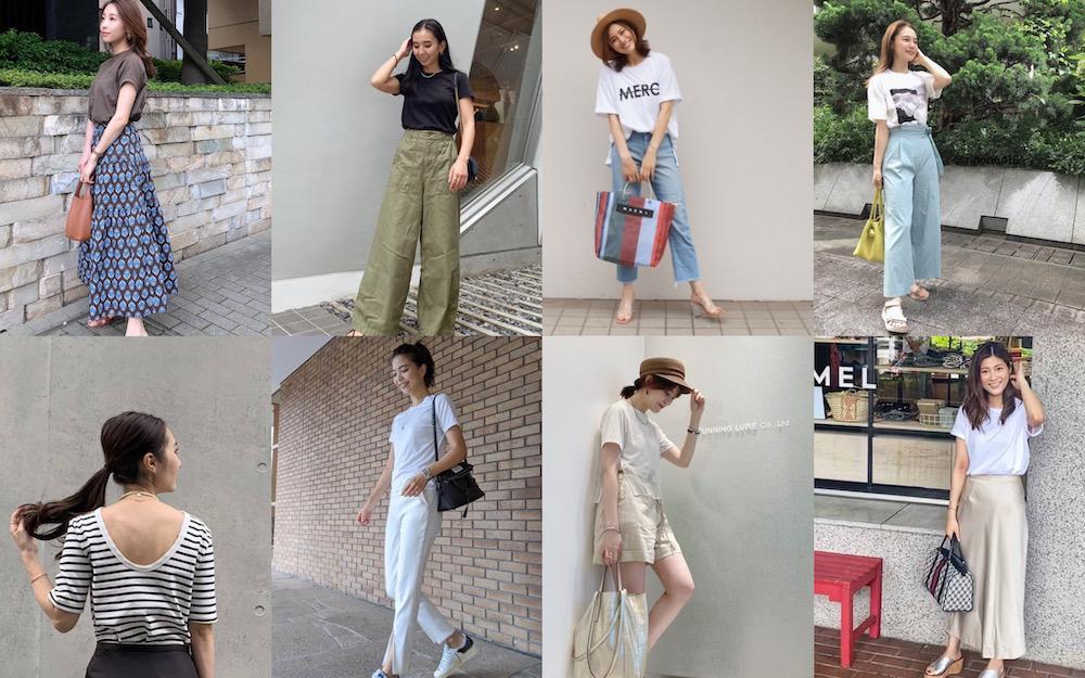 アラサー読者モデルのオシャレ見えTシャツコーデ9選