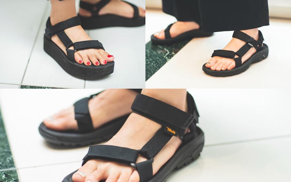 スポサン超定番TEVAの黒は女っぽく履くのが大人【アラサー女子のスポサンSNAP】