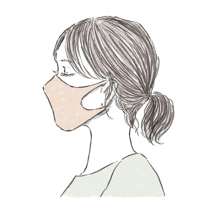 「マスクありき」の最新オシャレ配色コーデ【ベージュのマスク編】