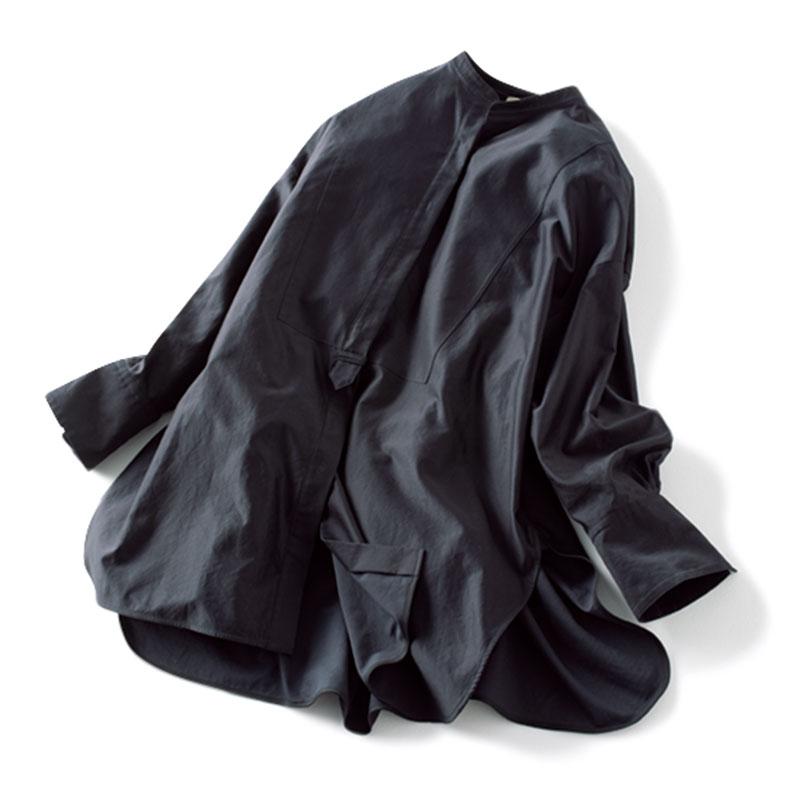 ネイビーシャツ¥38,000(エブール フォー ロンハーマン/ロンハーマン)