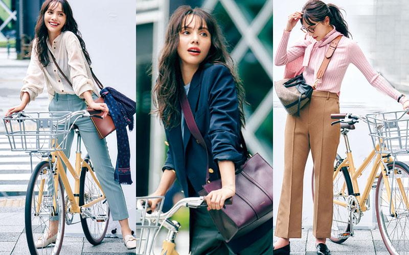 【自転車に乗る日】アラサー女子向けおすすめコーデ3選【ママチャリ編】