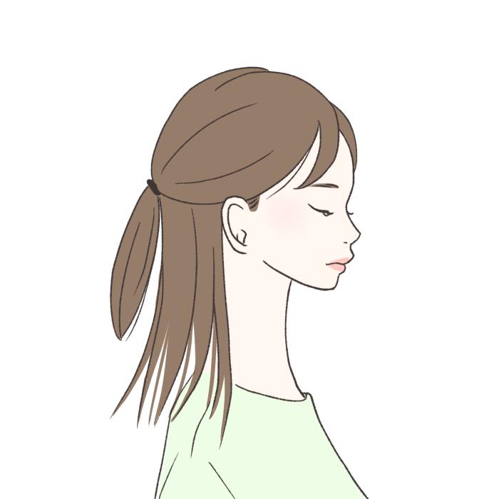 ただ髪を下ろしているよりも、こ