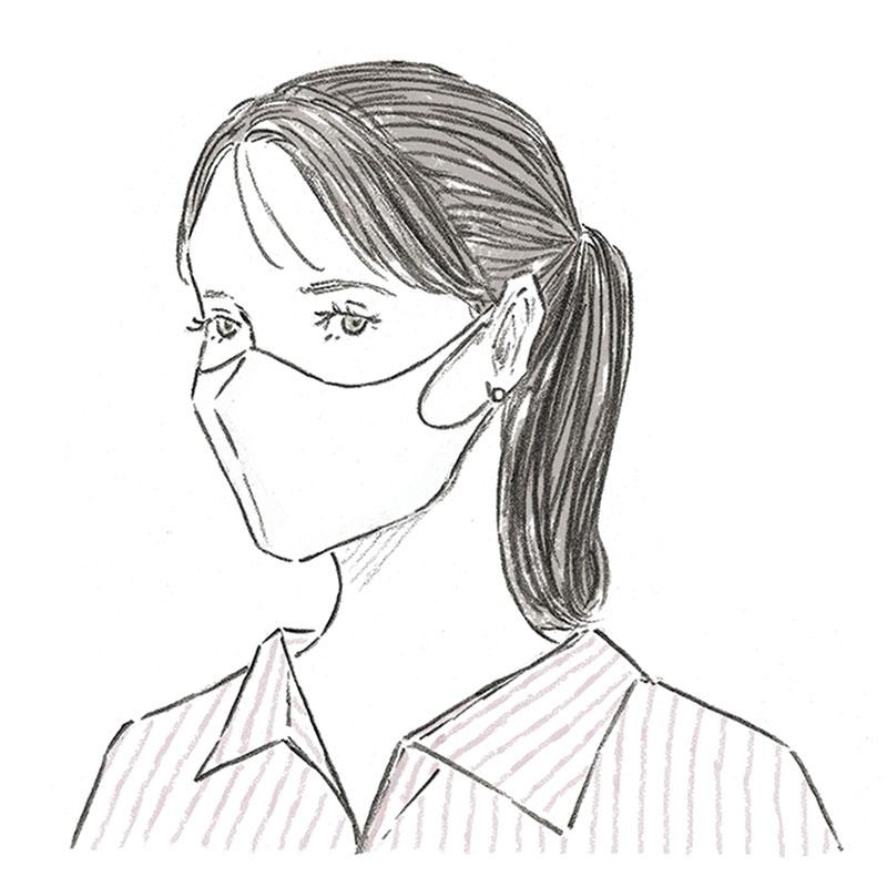「マスクありき」の最新オシャレ配色コーデ【白マスク編】