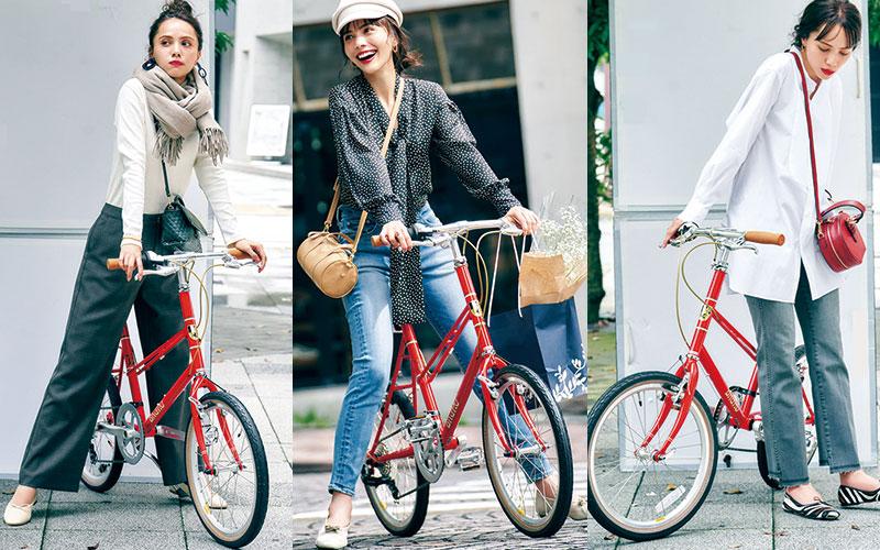 【自転車に乗る日】アラサー女子向けおすすめコーデ3選【ミニチャリ編】