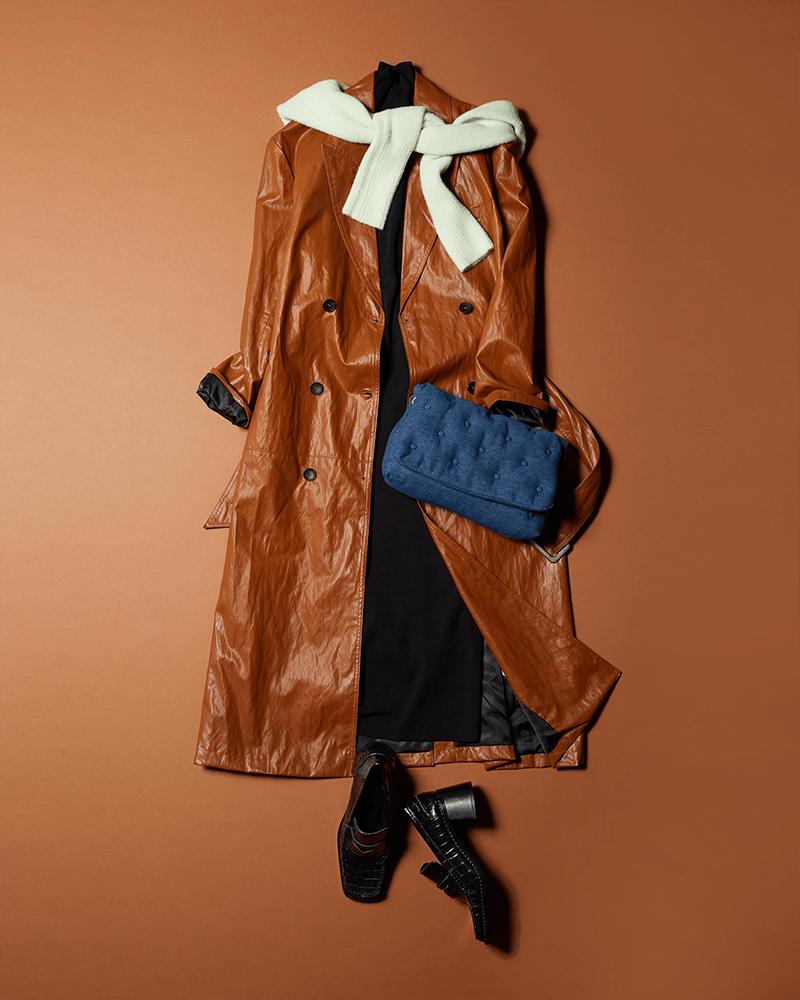 珍しいデニム素材のキルトバッグ