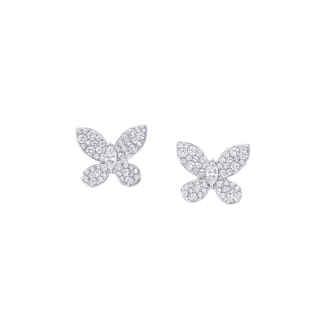 繊細で優美な羽をパヴェダイヤモ