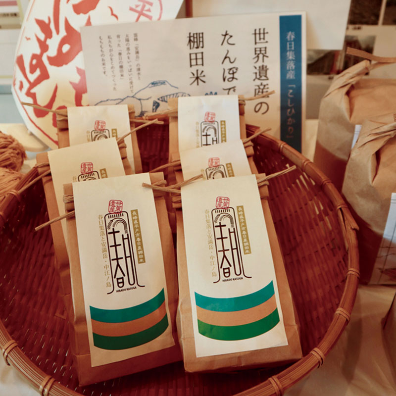 春日集落の棚田米。潮風を浴びたお米は、家で炊いたら美味でした!