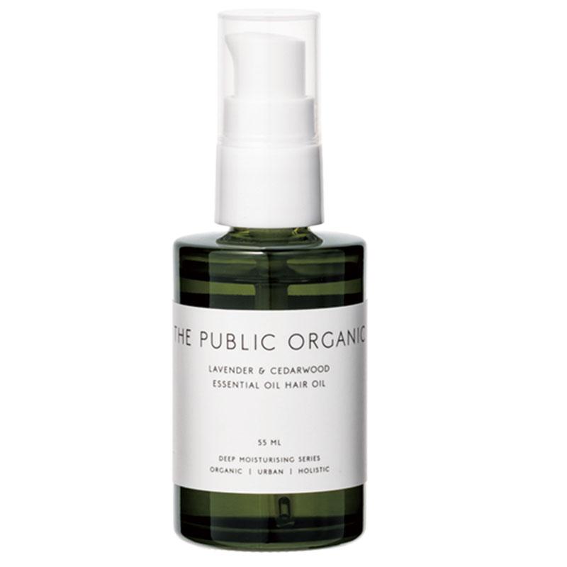 100%植物由来、ラベンダー×シダーウッドの精油の香りに癒される♡ザ パブリック オーガニック精油ヘアオイル スーパーリラックス カーミング55㎖ ¥1,600(カラーズ)