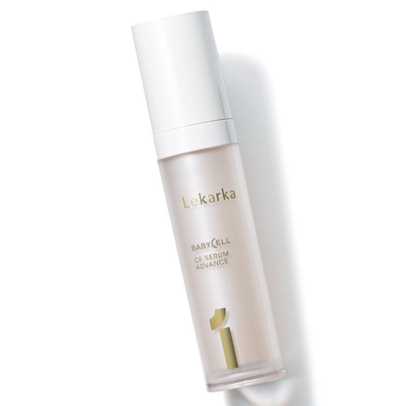 肌の老化を抑え、さらに肌に沈着したメラニンを白くする働きで透明感のある素肌に。30㎖ ¥12、000(レカルカ)