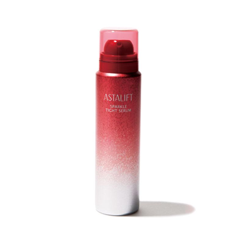 アスタリフトの炭酸セラム はじける泡で毛穴を引き締める、発売直後から人気の美容液。アスタリフト スパークル タイト セラム¥4,000(富士フイルム)