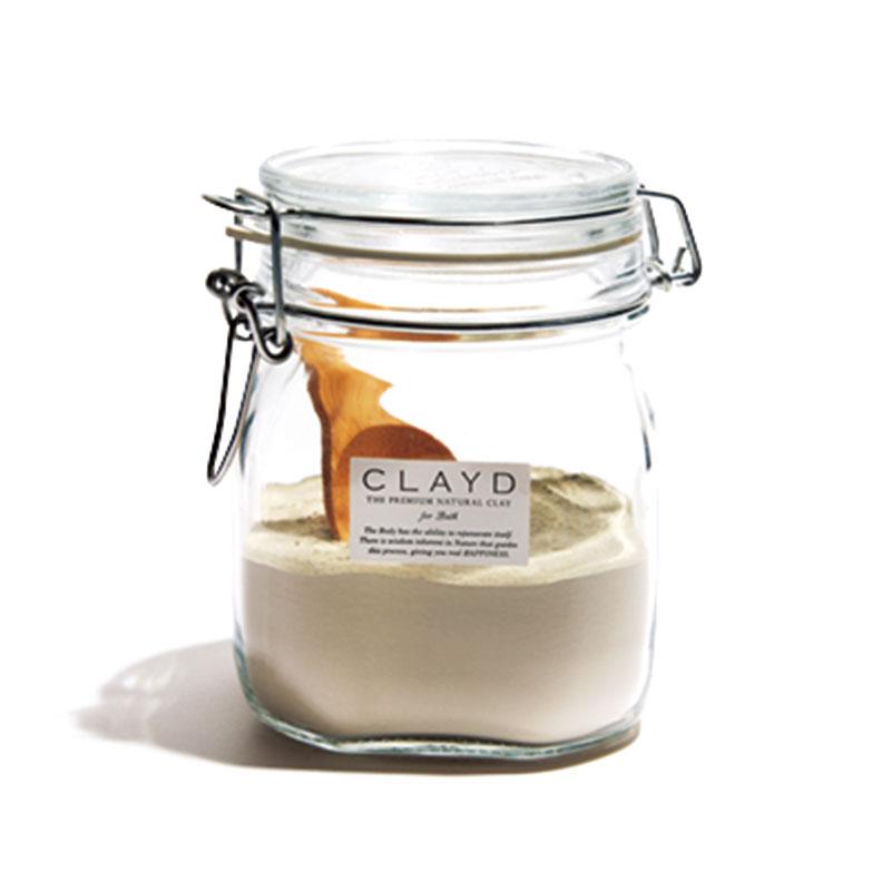 クレイドのバスクレイ 入浴剤としての使用の他に、肌、頭皮のパックとしても◎。CLAYDキャニスターセット400g¥4,900(マザーアース・ソリューション)