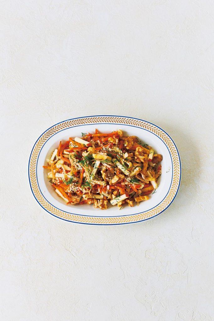 簡単ヘルシーな「美トレごはん」【人参と切干大根のサラダ】|Kellyの「美トレめし」
