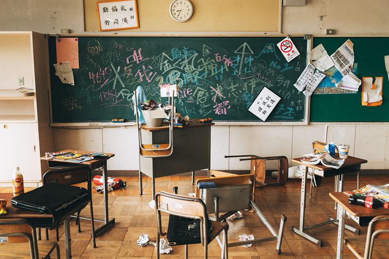 新任教師と生徒の闘いが始まろうとしていた