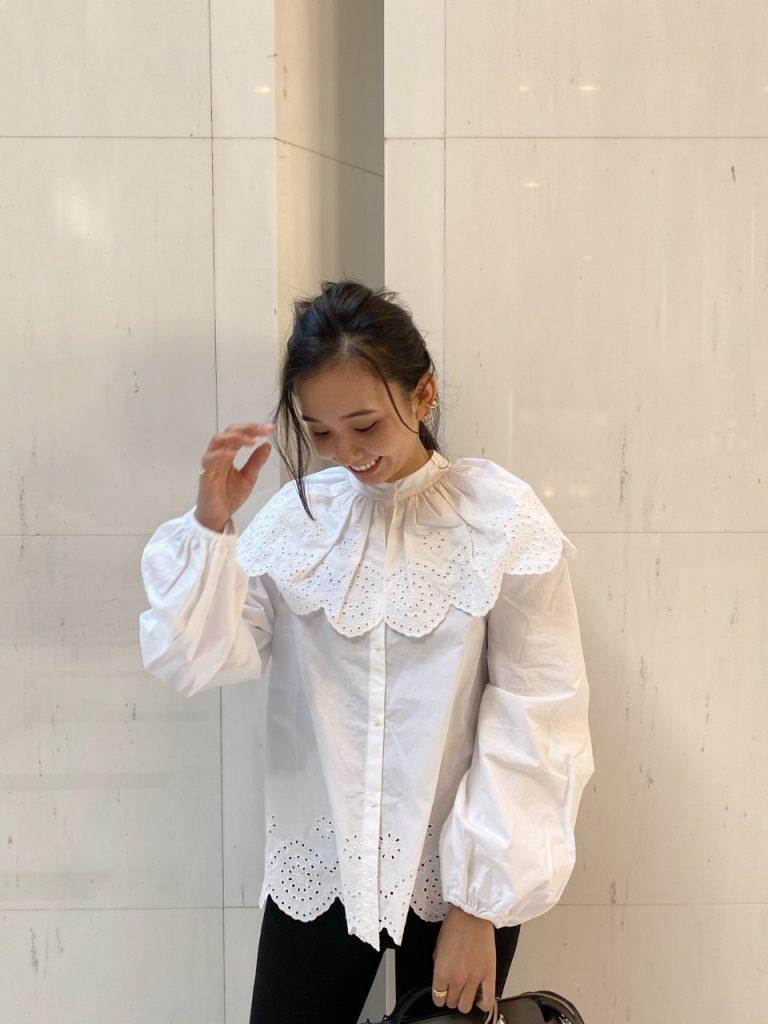 H&Mのセーラーブラウスで秋コーデ【プチプラアイテム】