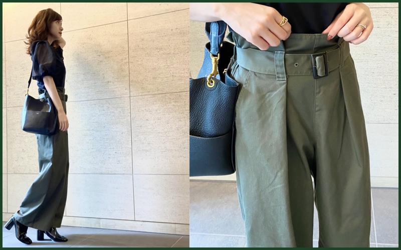 【¥1,990】GUのパンツでプチプラ秋コーデ「着痩せもこなれ感も◎」