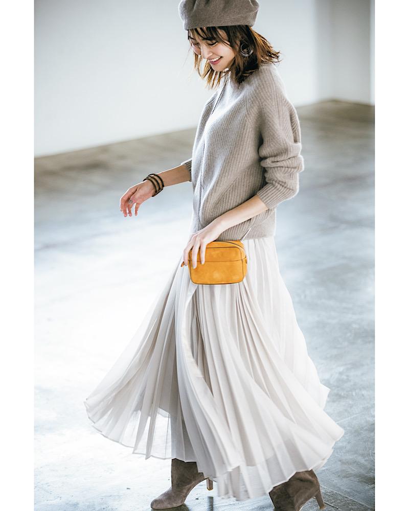 おばさん見えしない「ニット×スカート」の着こなし6選
