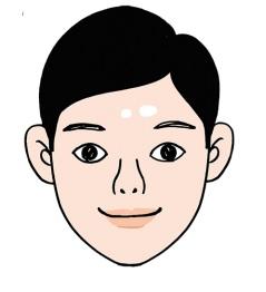 眉間が広く艶がある男性は、考え
