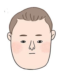 顔の面積は大きいのに目や耳が小