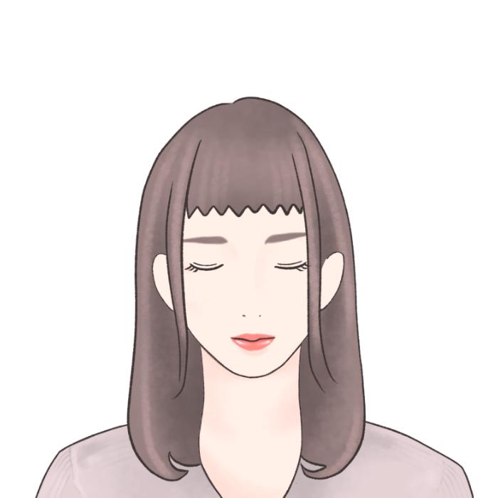 ●下ろし前髪は重すぎると老けて