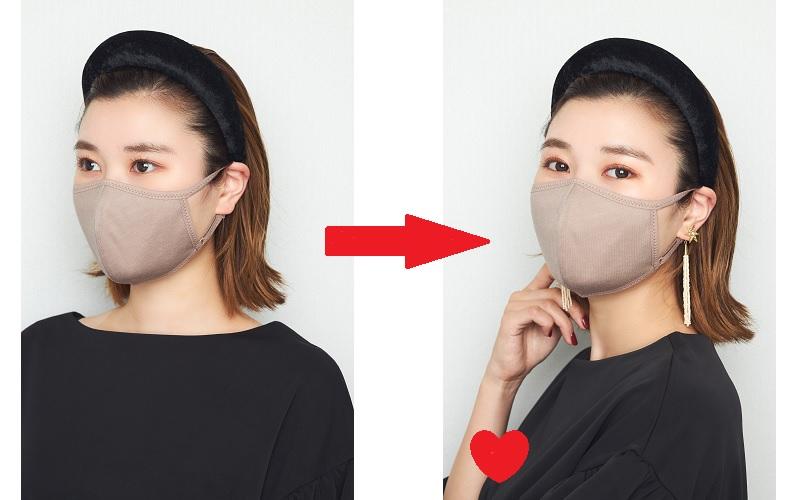 マスクがデフォルトになり、顔ま