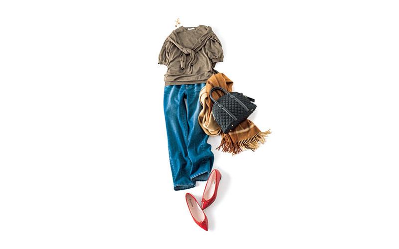 ニットアンサンブルは、こんな着こなしもいいかも【今日の着回しDiary】