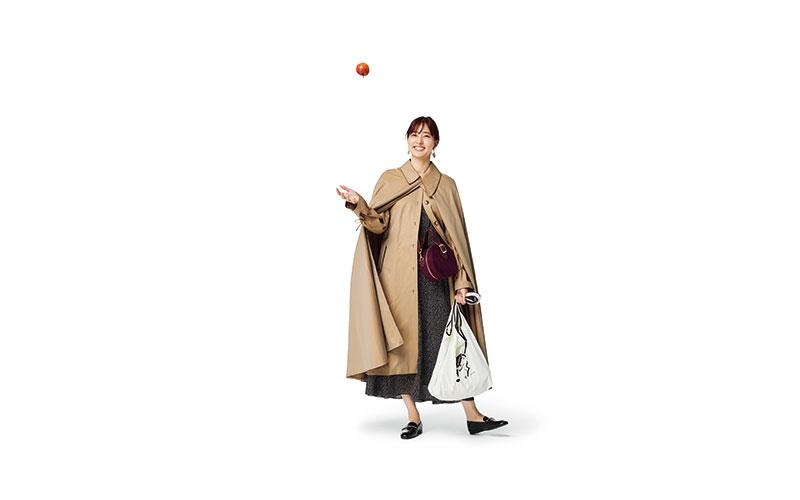 王道のトレンチコーデをもっとオシャレに【今日の着回しDiary】