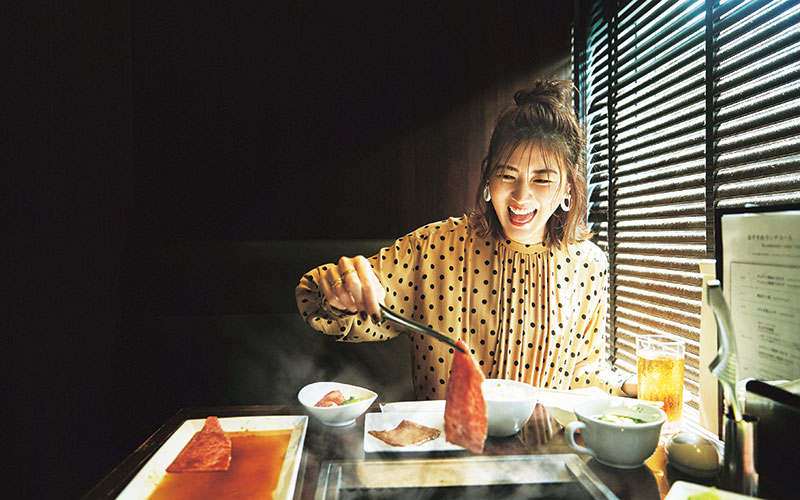 ぽっこりお腹&汚れが気にならない「柄ワンピコーデ」【焼き肉編】