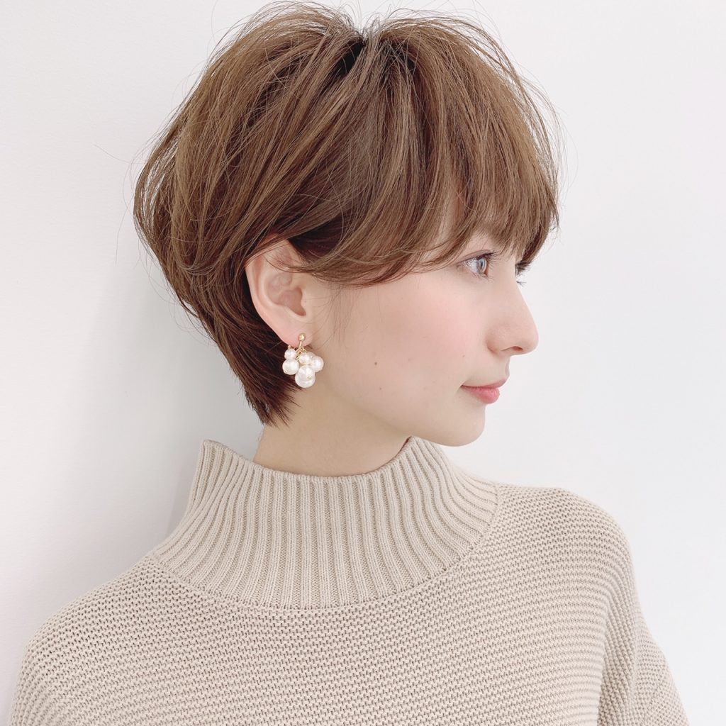 【ロングより女っぽい】骨格別におすすめのショートヘア【③ショート向きの輪郭編】