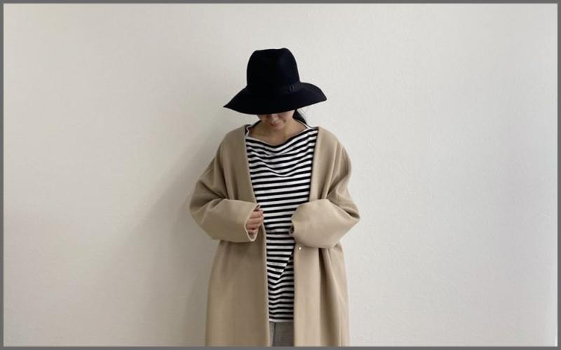 【1万円以下見えない!】ノーカラーコートで秋冬コーデ