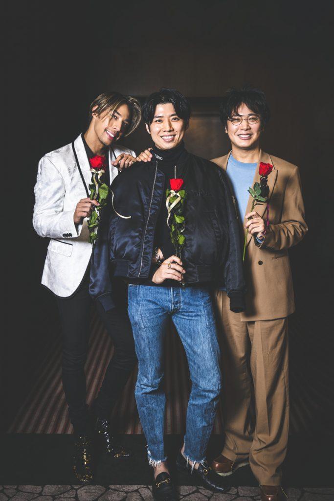 左から今回インタビューした、當間ローズさん、黄 皓さん、杉田陽平さん。