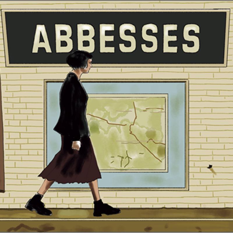 アベス駅を歩くアメリ