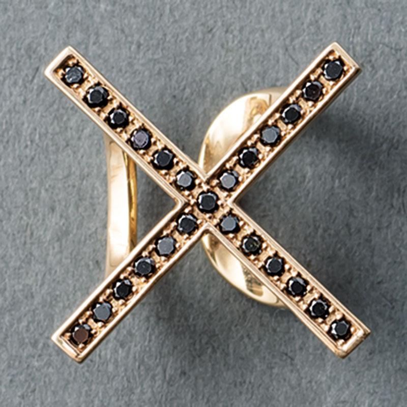 イヤーカフ「タフ」〈YG×ブラックダイヤモンド〉¥119,000