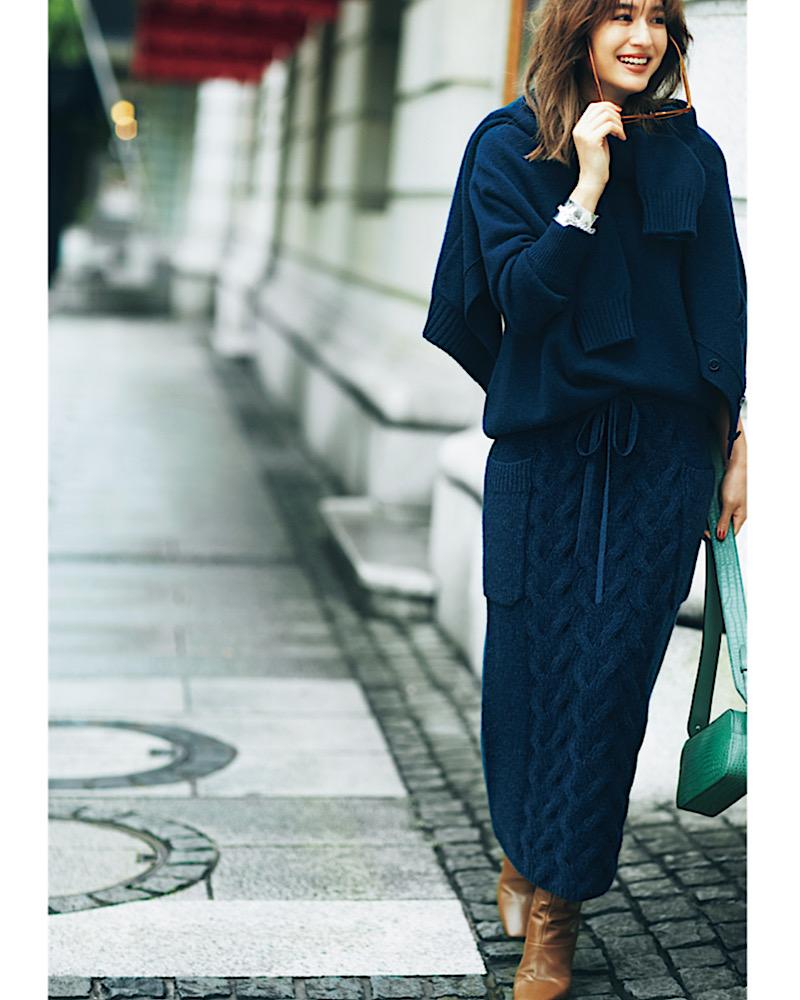 【今日の服装】細見えする「ニットスカート」コーデって?【アラサー女子】