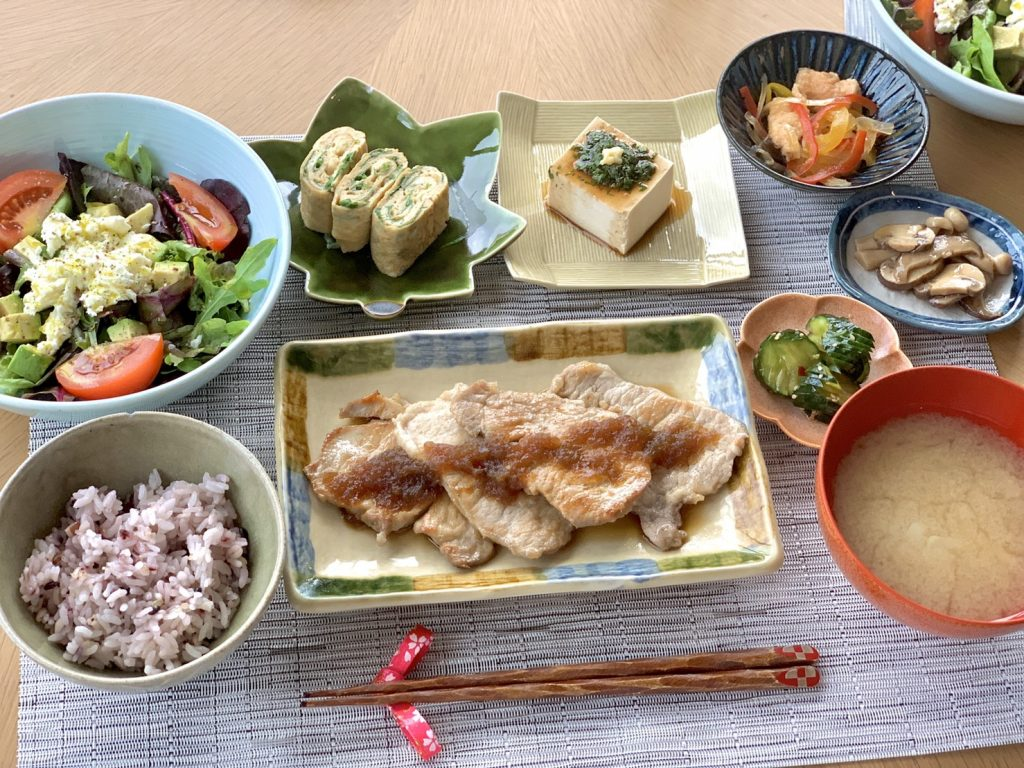 ・ポークソテー ・サラダ ・ほ