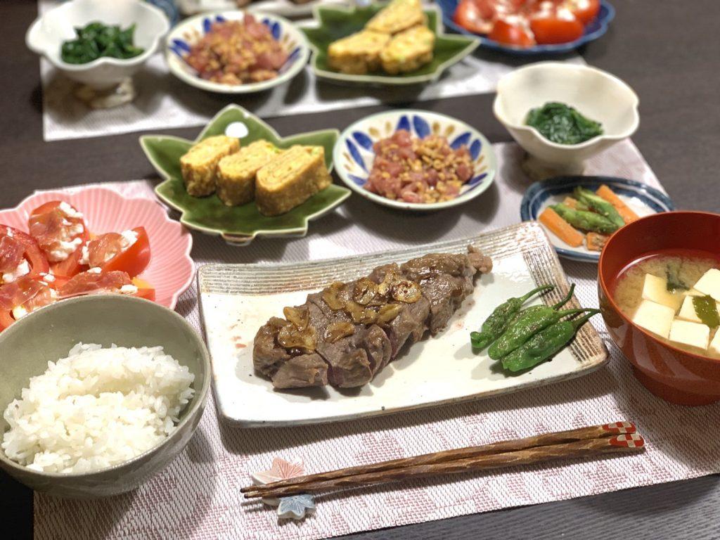 ・ガーリックバター醤油ステーキ