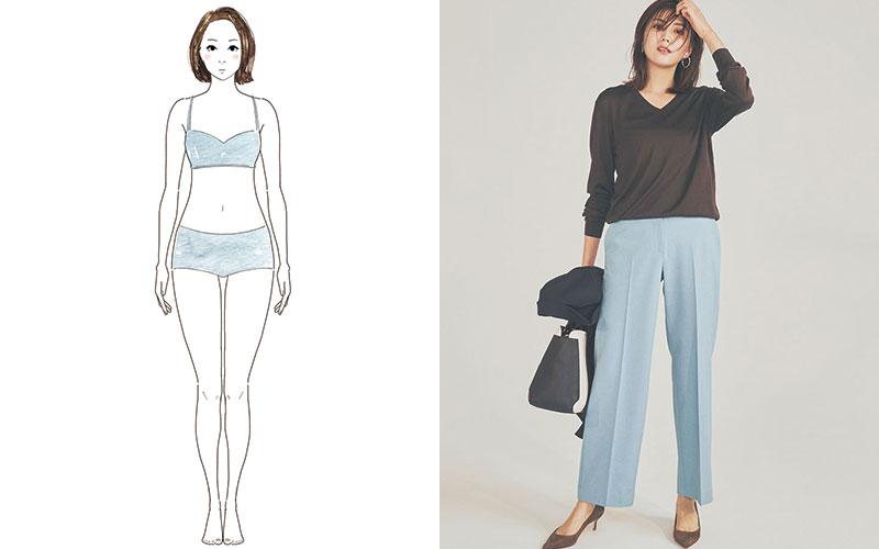 【骨格別】スタイルがよく見える「定番パンツ」3選【ストレート体型編】