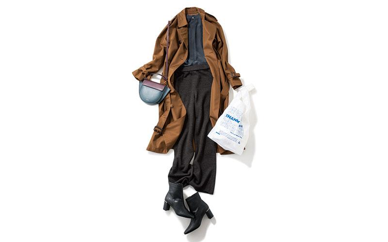 寒くなったらトレンチコートをカッコよく着たい【今日の着回しDiary】