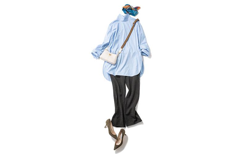 シャツをゆるっと着たい日のコーデ【今日の着回しDiary】