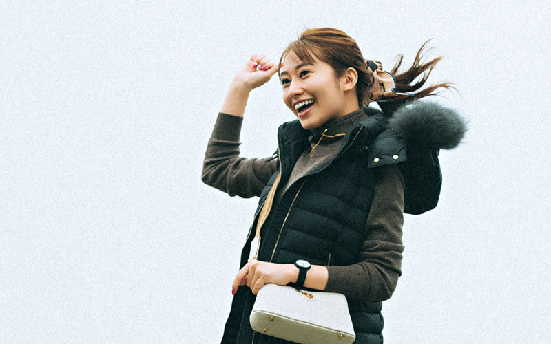 【桜井玲香】ダウンベストで防寒ばっちり【今日の着回しDiary】