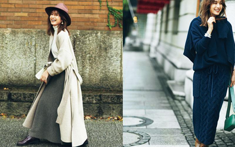今っぽい「冬のロングスカートの着こなし」おすすめアイディア3選