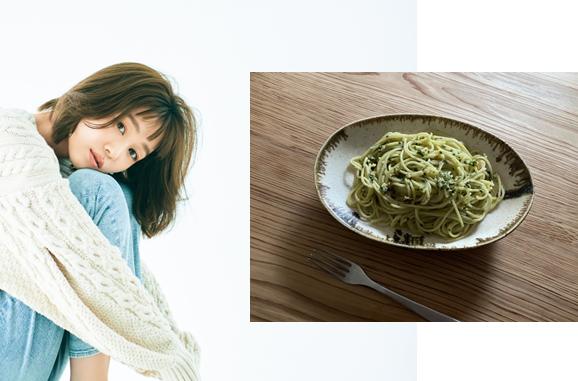 モデル千國めぐみさんの体に優しい「薬膳レシピ」【味噌とクリームチーズの即席ジェノベーゼ】