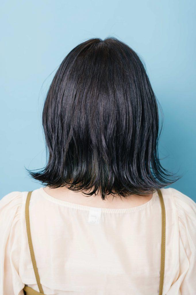 POINT:内側の毛先5㎝にブ