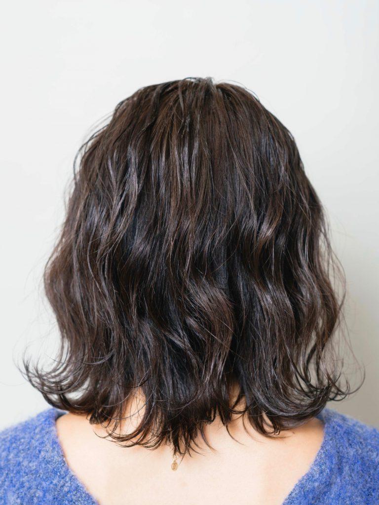 POINT:前髪の内側1線だけ