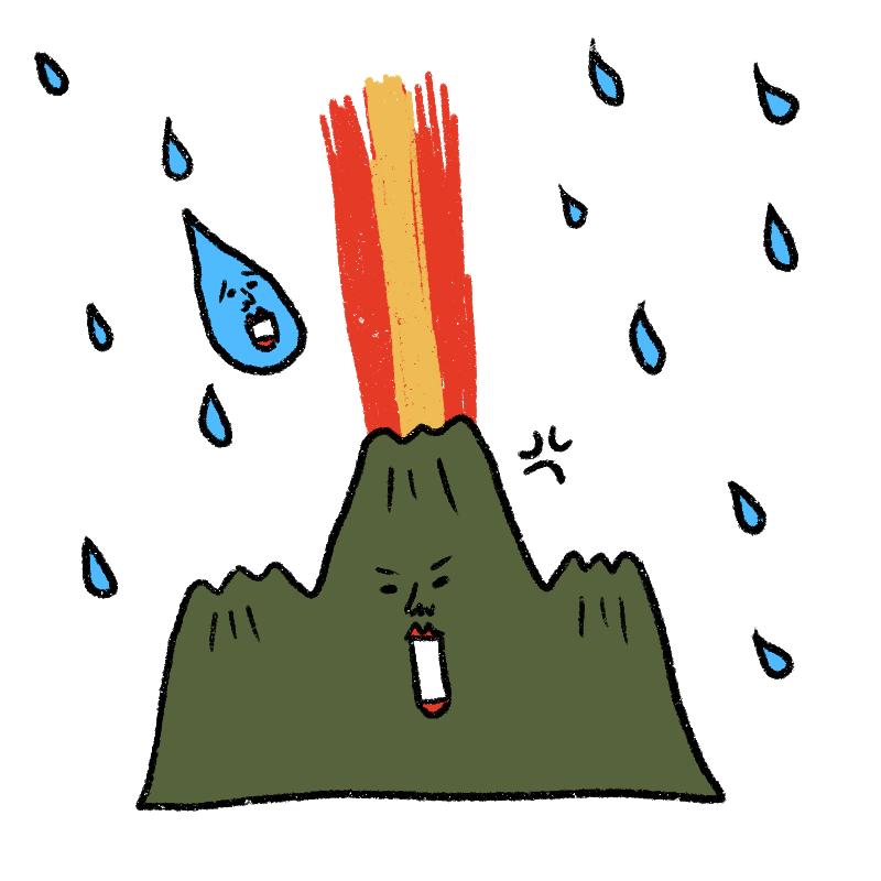 世界一の聞き上手の雨星人。山星